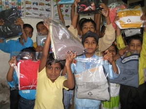 Kids at Deep Griha are all smiles on receiving the Tees!